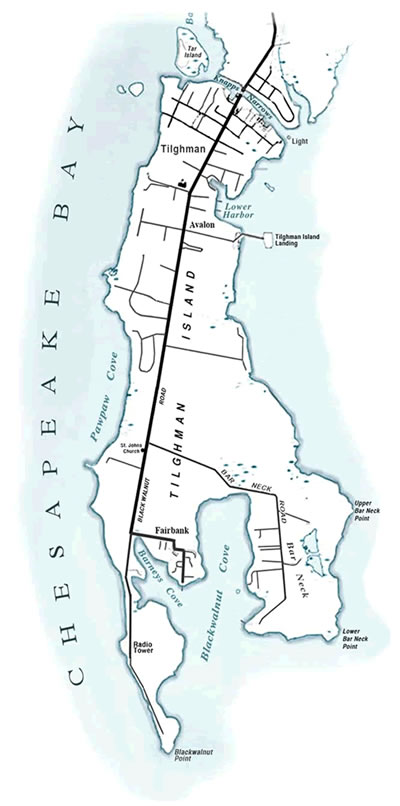 tilghman-island-historical-map