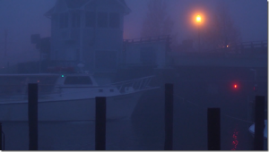 Foggy Bridge w boat
